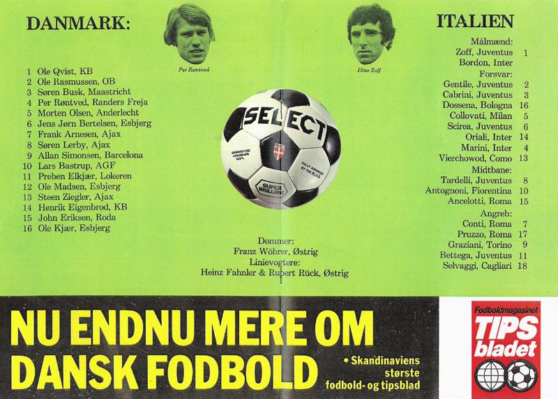 8909cd4658f Danmark - Sverige den 5. maj 1982