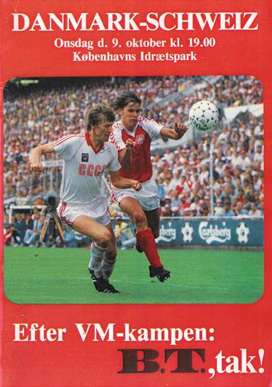5362a470d5a Danmark - Schweiz den 9. oktober 1985